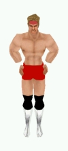 Billy Gunn with the Wings on his shorts and head by LouBoa